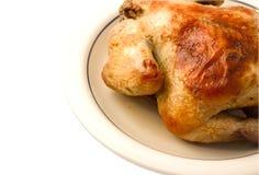 Huhn auf Platte Stockfotos