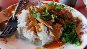 Huhn auf Reis Lizenzfreie Stockfotografie