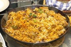Huhn Biryani der würzige Reis Stockfoto