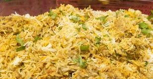 Huhn Biryani der würzige Reis Stockbild