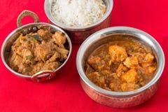 Huhn curries und Reis Lizenzfreies Stockbild
