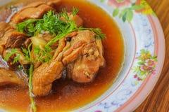 Huhn dämpfte in süß Soße (Kai Pa Lo-)/Kai Pa Lo Stockbilder