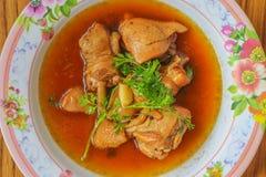 Huhn dämpfte in süß Soße (Kai Pa Lo-)/Kai Pa Lo Lizenzfreie Stockfotografie