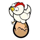 Huhn, das auf Ei sitzt Stockbilder