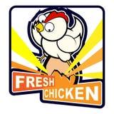 Huhn, das auf Ei sitzt Lizenzfreie Stockfotografie