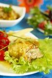 Huhn in der Soße vom Honig und vom Senf Lizenzfreie Stockfotos