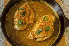 Huhn in der Wanne Stockfoto