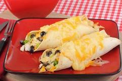 Huhn-Enchilada-Mahlzeit Stockbild