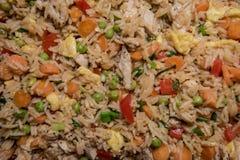 Huhn Fried Rice Close Up Lizenzfreie Stockfotografie