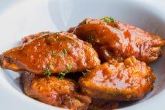 Huhn gebacken stockfotos