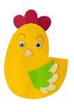 Huhn gebildet von der Papierfertigkeit Stockbilder
