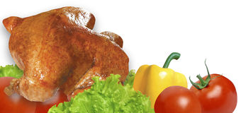 Huhn gegrillt Lizenzfreie Stockbilder