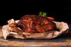 Huhn gegrillt mit Gewürzen Lizenzfreie Stockfotos