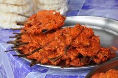 Huhn-Innerei-Rod-gebratener Reis Stockfotos