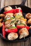 Huhn kebabs Stockbild