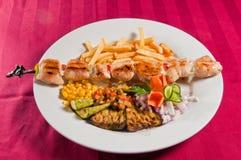 Huhn Kebabs Lizenzfreies Stockfoto