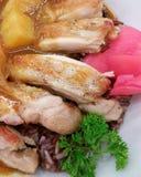 Huhn-kerry†‹auf Reis Stockfotos