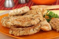 Huhn-Lendenstück-Abendessen stockfotografie
