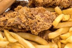 Huhn mit Chips Lizenzfreie Stockfotografie