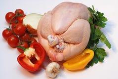 Huhn mit Gemüse Stockfotografie