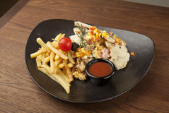 Huhn mit Gemüse Lizenzfreies Stockbild