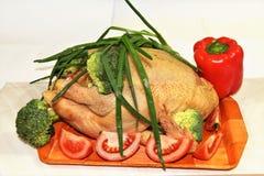 Huhn mit Gemüse Lizenzfreies Stockfoto