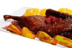 Huhn mit Kirschsoße Stockbilder
