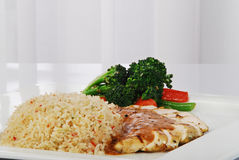 Huhn mit Reis Stockfoto