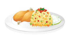 Huhn mit Salat Lizenzfreies Stockfoto