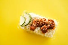 Huhn mit Samen des indischen Sesams stockfotografie
