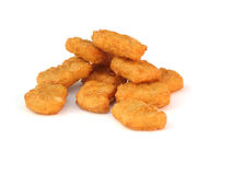 Huhn-Nuggets Stockfoto