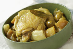 Huhn, Olive und confit Zitrusfrucht Tajine Stockbild