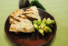 Huhn Quesadillas Stockbilder