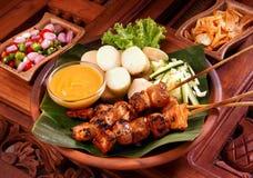 Huhn Satay Stockfotografie