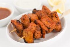Huhn Tikka Kebab Stockfotos