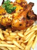 Huhn und Chips Lizenzfreie Stockfotografie