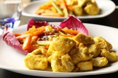 Huhn und Curry lizenzfreie stockfotos