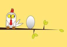 Huhn und Ei stock abbildung