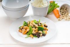 Huhn und Gemüse Stockbild