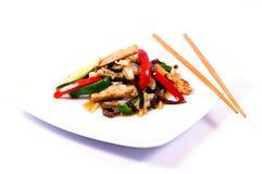 Huhn und Gemüse Lizenzfreies Stockbild