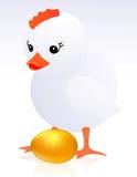 Huhn und goldenes Ei Stockbilder