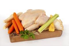 Huhn und mirepoix Stockbilder