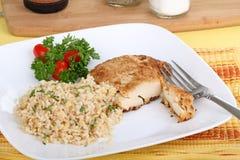 Huhn und Reis stockbilder