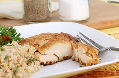 Huhn und Reis lizenzfreies stockbild