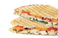 Huhn-und Veggie-Sandwich Lizenzfreies Stockbild