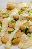 Huhn und weiße Soße Stockbild