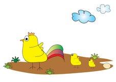 Huhn wachsen auf Lizenzfreies Stockfoto