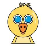 Huhn wenig lokalisierte Ikone der Farm der Tiere Lizenzfreie Stockbilder