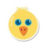 Huhn wenig lokalisierte Ikone der Farm der Tiere Lizenzfreies Stockbild