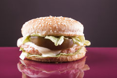 Huhnburger Stockfoto